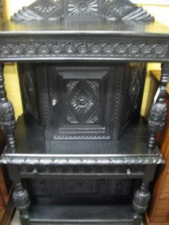 Victorian oak cabinet