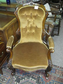 Victorian mahogany arm chair