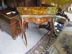 Small rosewood card table