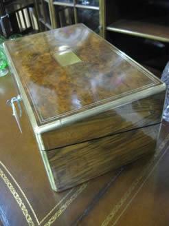 Victorian walnut writing box