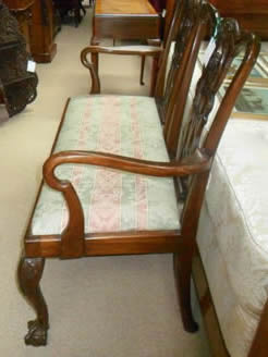 19th Century Chippendale Style Settee
