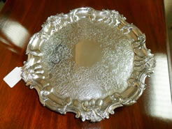 Silver Salver, Sheffield 1853