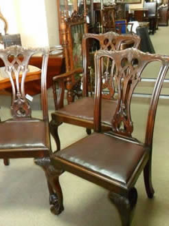 Set of Eight Mahogany Chairs