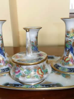 Fieldings Devon Ware Dressing Table Set