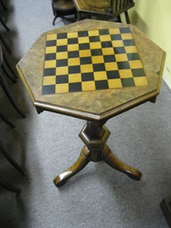 Victorian walnut games table