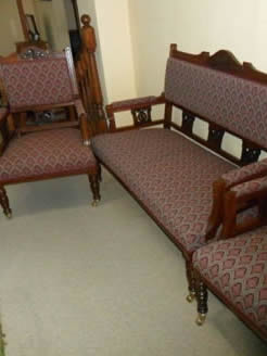 Edwardian Mahogany Three Piece Suite