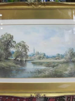 Pair of 19th century watercolours, signed