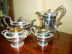Four Piece Silver Tea-set