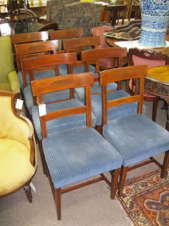 Eight 19th century mahogany chairs