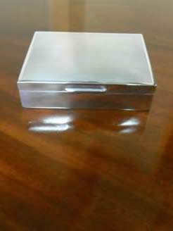 Silver Cigarette Box.
