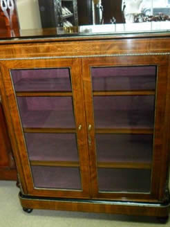 Victorian Burr Walnut Side Cabinet