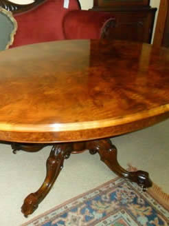 Victorian Burr Walnut Table