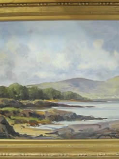 Oil painting by Irish artist Maurice Wilks