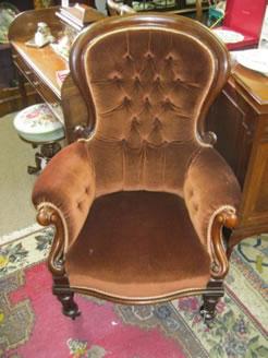 Victorian mahaogany armchair