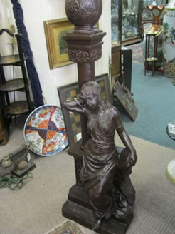 Large spelter figure