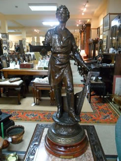 Victorian Spelter Figure