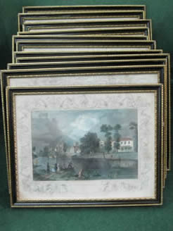 Set of twelve engravings
