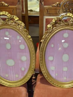 Pair of 19th century gilt framed plaster plaques