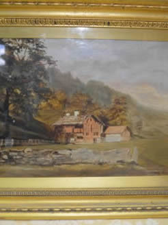 Oil painting signed in gilt frame