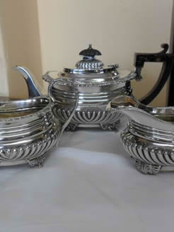 Three Piece Silver Tea- set