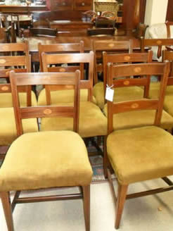 Set of Ten Georgian Mahogany Chairs