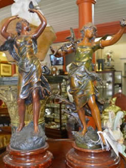 Pair of 19th century spelter figures