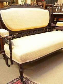 Edwardian mahogany couch