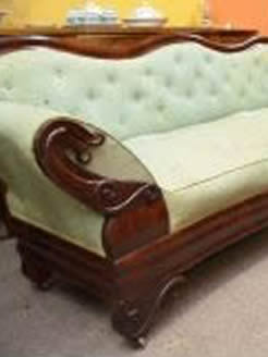 19th century mahogany double ended settee