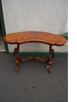 Victorian burr-walnut side table