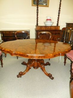 Victorian Burr Walnut Table.