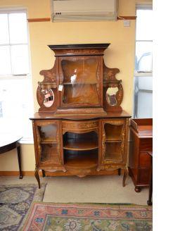 Victorian mahogany display cabinet