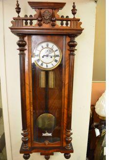 Double weight vienna clock