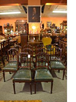 Set of ten mahogany chairs
