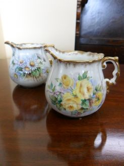 Pair of Hand Painted Jugs
