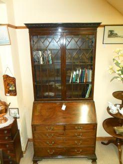 19th century mahoagany bureau bookcase