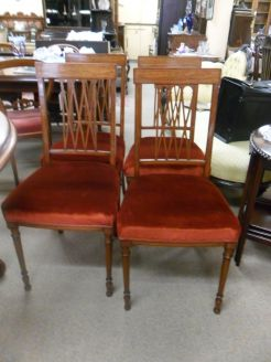 Set of Four Satinwood Chairs