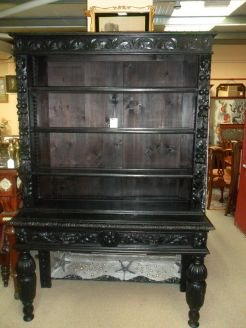 Victorian Carved Oak Dresser.