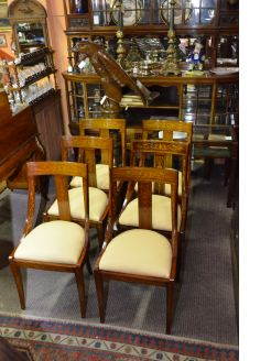 Set of six rosewood chairs