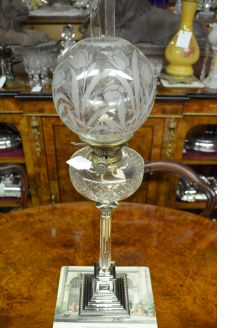 Plated oil lamp
