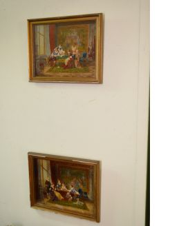 Pair of oil paintings,signed