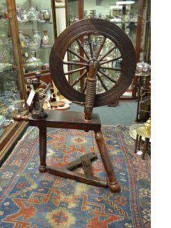 Victorian spinning wheel
