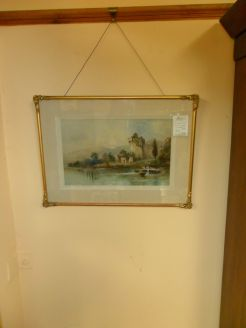 Gilt framed watercolour signed.