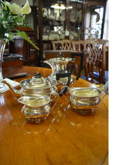 4Pc silver tea-set service