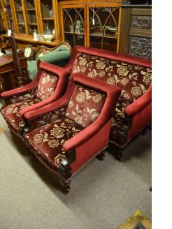 Victorian mahogany three piece suite