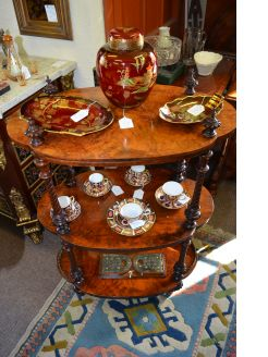 Victorian three tier walnut wot-not