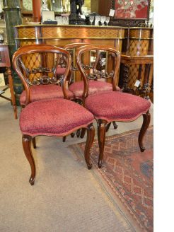 Set of four  victorian mahoagany dining chairs