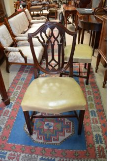 Set of six 19th century mahogany chairs