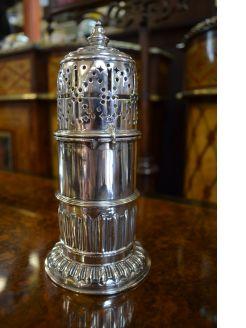 Victorian silver castor