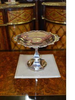 Silver compote centre piece