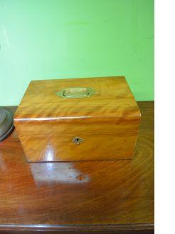 Victorian walnut sewing box